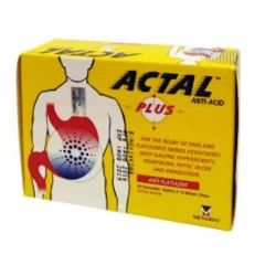 ACTAL PLUS ANTACID CHEWABLE TABLET 10S X 12