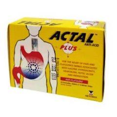 ACTAL PLUS ANTACID CHEWABLE TABLET 10S X 12