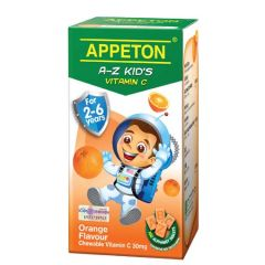 APPETON A-Z KIDS VITAMIN C 30MG (ORANGE) CHEWABLE TABLET 100S
