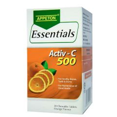 APPETON ESSENTIALS ACTIV-C VITAMIN C 500MG (ORANGE) CHEWABLE TABLET 30S