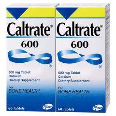 CALTRATE 600 CALCIUM TABLET 60S X 2