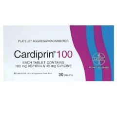 CARDIPRIN 100 FOR PREVENTING STROKES & HEART ATTACKS TABLET 30S