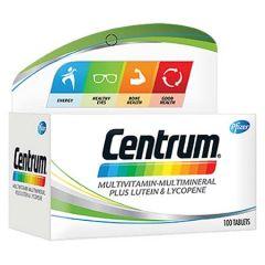 CENTRUM MULTIVITAMINS & MINERALS + LUTEIN & LYCOPENE TABLET 100S