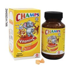 CHAMPS VITAMIN C 30MG ORANGE CHEWABLE TABLET 100S