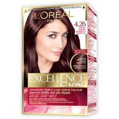 LOREAL EXCELLENCE CREME ADVANCED TRIPLE CARE HAIR COLOUR - 4.26 PURPLE BROWN 1S