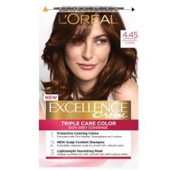 LOREAL EXCELLENCE CREME TRIPLE CARE HAIR COLOUR - 4.45 MAHOGANY COPPER BROWN 1S