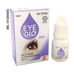 EYE GLO PLUS EYE DROPS 10ML - STRAINED & TIRED EYES