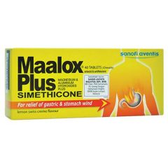 MAALOX PLUS 25MG ANTACID TABLET 40S