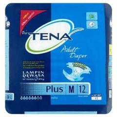 TENA PLUS ADULT DIAPER M 12PCS