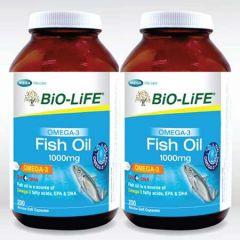 BiO-LiFE OMEG-3 FISH OIL 1000MG CAPSULE 200S X 2