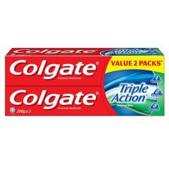 COLGATE TRIPLE ACTION ORIGINAL MINT TOOTHPASTE 200G X 2