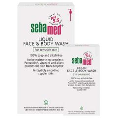 SEBAMED LIQUID FACE & BODY WASH 1L + 200ML
