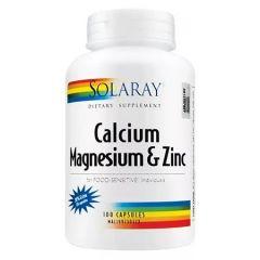 SOLARAY CALCIUM MAGNESIUM & ZINC 120S