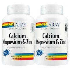 SOLARAY CALCIUM MAGNESIUM ZINC 120SX2