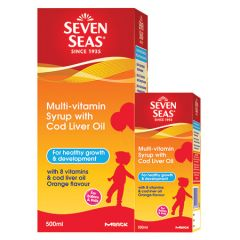 SEVENSEAS MULTIVITAMIN SYRUP WITH COD LIVER OIL 500ML+100ml