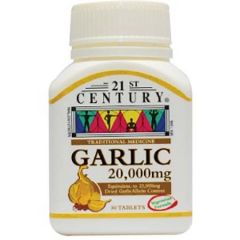 21ST CENTURY GARLIC 20000MG TABLET 30S
