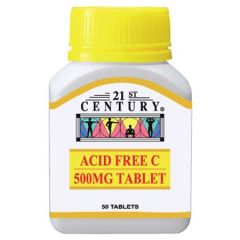 21ST CENTURY ACID FREE C 500MG TABLET 50S