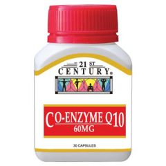 21ST CENTURY CO-ENZYME Q10 60MG CAPSULE 30S