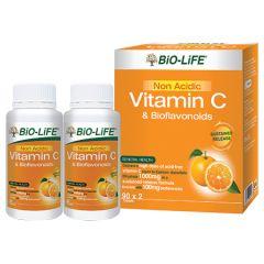 BiO-LiFE NON ACIDIC VITAMIN C & BIOFLAVONOIDS TABLET 90S X 2