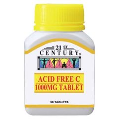 21ST CENTURY ACID FREE C 1000MG TABLET 50S