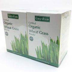 GREENFOOD ORGANIC WHEAT GRASS POWDER 100G X 2