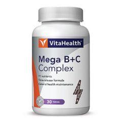 VITAHEALTH MEGA B+C COMPLEX TABLET 30S