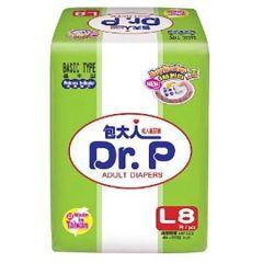 DR P BASIC ADULT DIAPER 8S - L SIZE