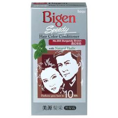 BIGEN SPEEDY HAIR COLOR CONDITIONER BURGUNDY BROWN 855