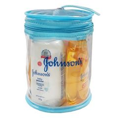 JOHNSONS BABY TRAVEL KIT (LOTION 50ML + SHAMPOO 50ML + BATH 50ML + POWDER 50G)