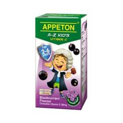 APPETON A-Z KIDS VITAMIN C 30MG (BLACKCURRANT) CHEWABLE TABLET 100S