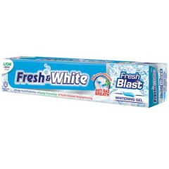 FRESH & WHITE FRESH BLAST WHITENING GEL TOOTHPASTE 160G