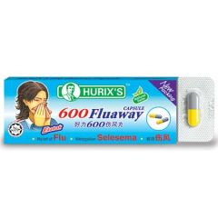HURIXS 600 FLU AWAY CAPSULE 6S
