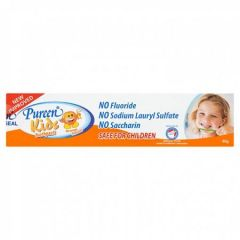PUREEN KIDS TOOTHPASTE FLOURIDE FREE ORANGE 40G