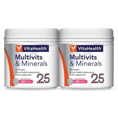 VITAHEALTH MULTIVITAMINS & MINERALS SOFTGEL 100S X 2