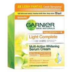 GARNIER LIGHT COMPLETE WHITE SPEED MULTI-ACTION WHITENING SERUM CREAM SPF20 50ML
