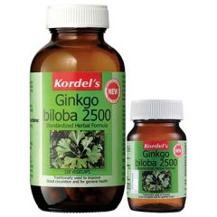 KORDELS GINKGO BILOBA 2500MG VEGETABLE CAPSULE 120S + 30S
