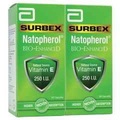 SURBEX NATOPHEROL BIO-ENHANCE 250IU 60CX2