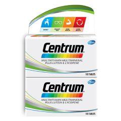CENTRUM MULTIVITAMINS & MINERALS + LUTEIN & LYCOPENE TABLET 100S X 2