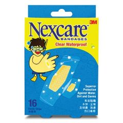 3M NEXCARE BANDAGES CLEAR WATERPROOF 16S