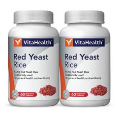 VITAHEALTH RED YEAST RICE VEGETABLE CAPSULE 60S X 2