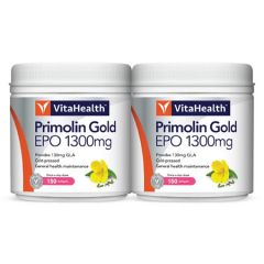 VITAHEALTH PRIMOLIN GOLD EVENING PRIMROSE OIL (EPO) 1300MG SOFTGEL 150S X 2