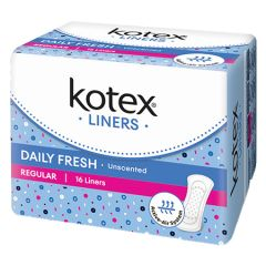 KOTEX PANTY LINERS DAILY FRESH REGULAR UNSCENTED 16S