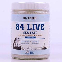 BIOGREEN 84 LIVE FINE SEA SALT 400G