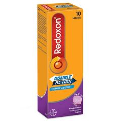 REDOXON EFFERVERSCENT DOUBLE ACTION BLACKCURRANT 10S