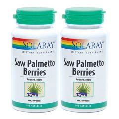 SOLARAY SAW PALMETTO BERRIES 100S X 2