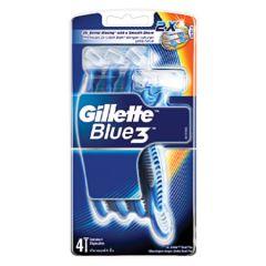 GILLETTE BLUE 3 DISPOSABLES RAZOR 4S