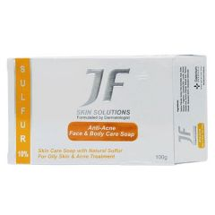 JF ANTI-ACNE FACE & BODY CARE SOAP WITH NATURAL SULFUR 100G X 2 + 20G X 2