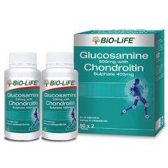 BiO-LiFE GLUCOSAMINE 500MG+CHONDROITIN 400MG 90S X 2