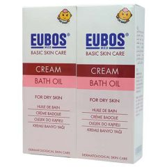 EUBOS BABY CREAM BATH OIL 200ML X 2