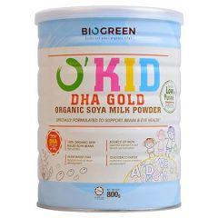 BIOGREEN O'KID DHA GOLD ORGANIC SOYA MILK POWDER 800G